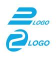 2 logos vector image vector image