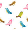abstract bird seamless pattern background vector image vector image