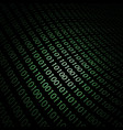 abstract design-binary code 3d background vector image vector image