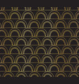 abstract seamless gold foil arcs on black vector image