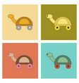 assembly flat icons kids toy turtle vector image vector image
