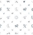 astronomy icons pattern seamless white background vector image vector image