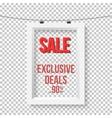 Big Sale Poster Wall Frame Mockup vector image vector image