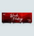 black friday instagram social media sale banner vector image