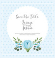 blue flowers decoration dots background save the vector image