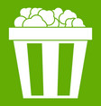 box of popcorn icon green vector image vector image