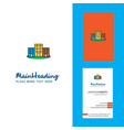 buildings creative logo and business card vector image