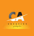 ca c a letter modern logo design with yellow vector image vector image