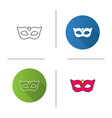carnival mask icon vector image vector image