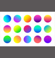 circle colorful gradient icons abstract vector image