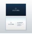 clean business card design template vector image vector image