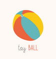 colorful beach ball white vector image