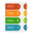 colorful text box 1 2 3 vector image vector image