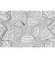 coloring book page with abstract pattern with star vector image vector image