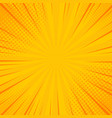 comics rays background with halftones summer vector image vector image