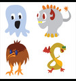 cute monster color character funny design elements vector image