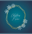 delicate christmas gold frame vector image vector image