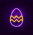 easter decor neon sign vector image vector image