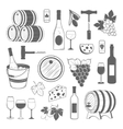 elegant wine set of vintage elements isolated vector image vector image