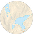 fictional round topographic map with elevation vector image