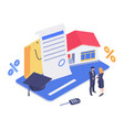 finance isometric concept vector image vector image