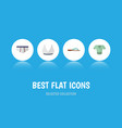 flat icon garment set of beach sandal brasserie vector image vector image