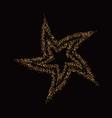 golden star banner gold glitter star vector image vector image
