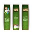 green school banner set vector image vector image
