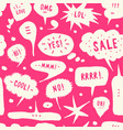 hand-drawn speech bubble seamless pattern vector image vector image