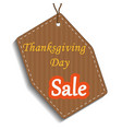 happy thanksgiving sale sticker tag or label ve vector image