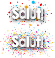 Hello paper banners vector image vector image