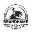 horse training logo design vector image vector image