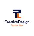 letter tl creative business logo design vector image vector image