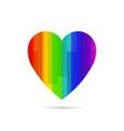lgbt symbol rainbow heart vector image