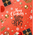 merry christmas and happy new 2019 year concept vector image vector image