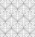 monochrome diamond seamless pattern vector image vector image