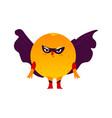 orange fruit hero superhero character guard vector image