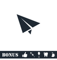 Paper plane icon flat vector image vector image