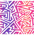 pink color maze seamless pattern vector image vector image