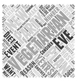 Planning A Vegetarian New Years Eve Party Word vector image vector image