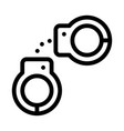 police arrest irons icon outline vector image vector image