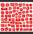 premium quality retro red badge collection vector image vector image
