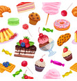 seamless pattern with confectionery and sweets vector image