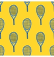 Seamless pattern with hand drawn tennis racket vector image vector image