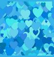 seamless random heart pattern background - design vector image vector image