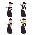 Set of graduted women vector image