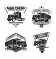 set trucking company vintage emblem designs vector image vector image
