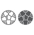 soccer ball line and glyph icon sport and vector image vector image