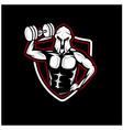 spartan gym health logo designs vector image