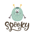 spooky halloween poster with monster character vector image vector image